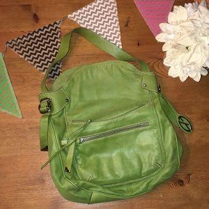 Francesco Biasia Green Leather Bag